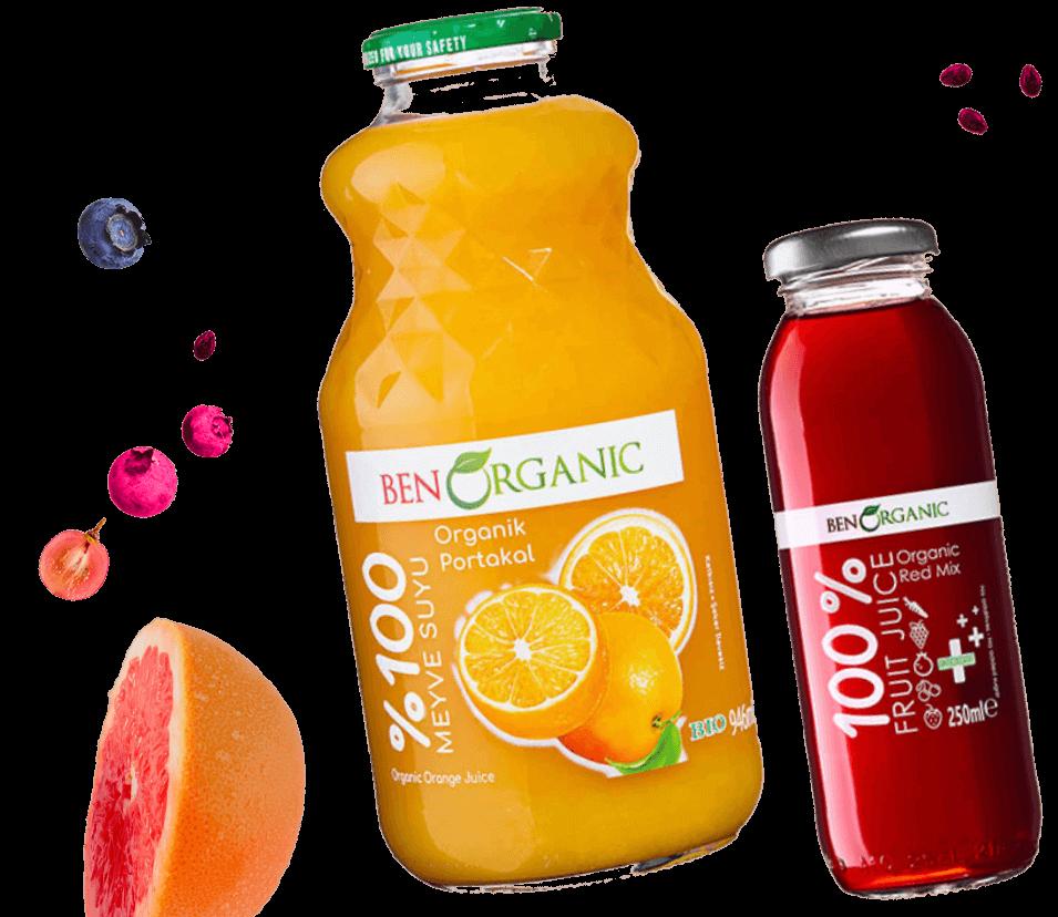 organik meyve suları - benorganic